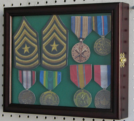 Badge Or Medal Display Case Cherry