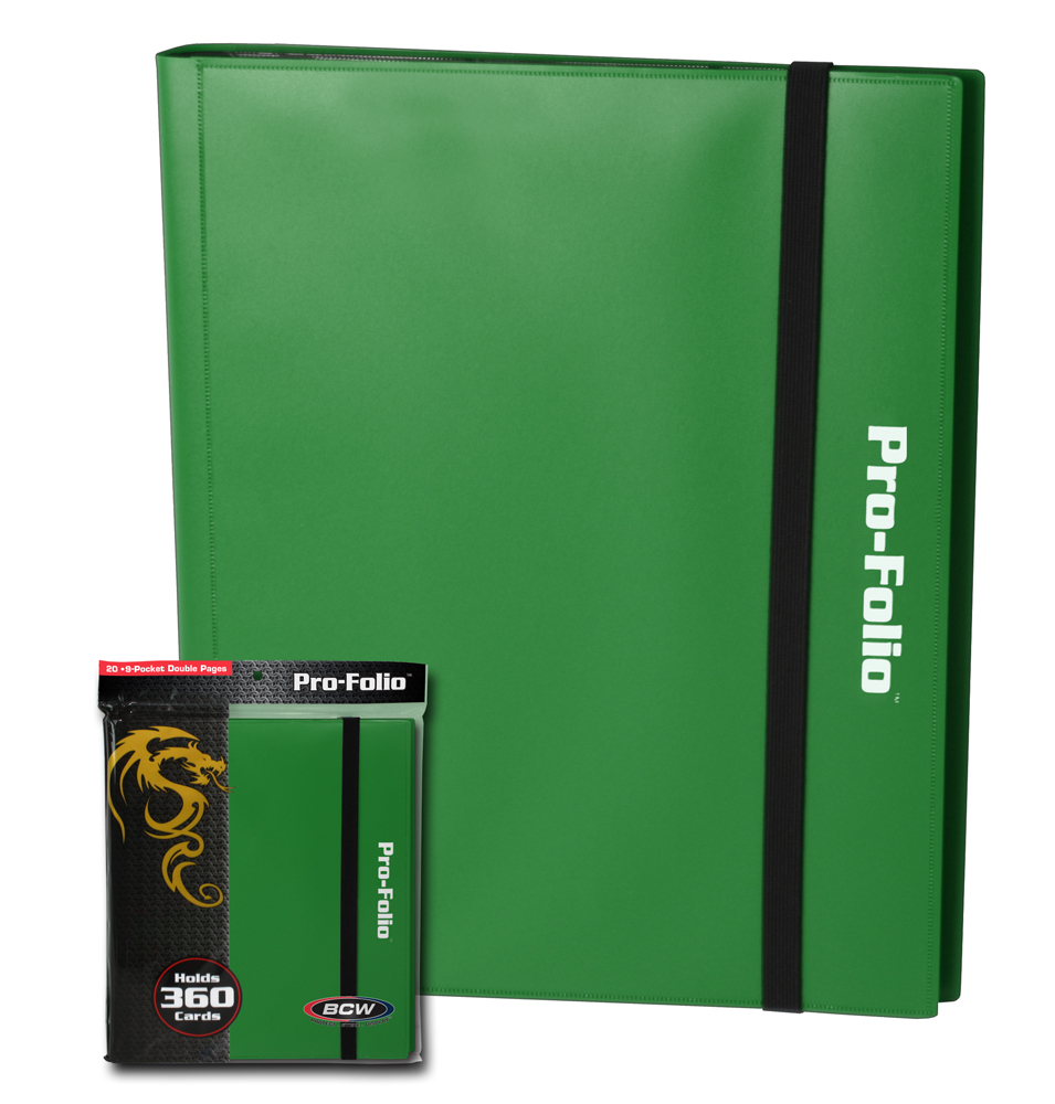 Trading Card Album 9 Pocket Holds 360 Cards Green