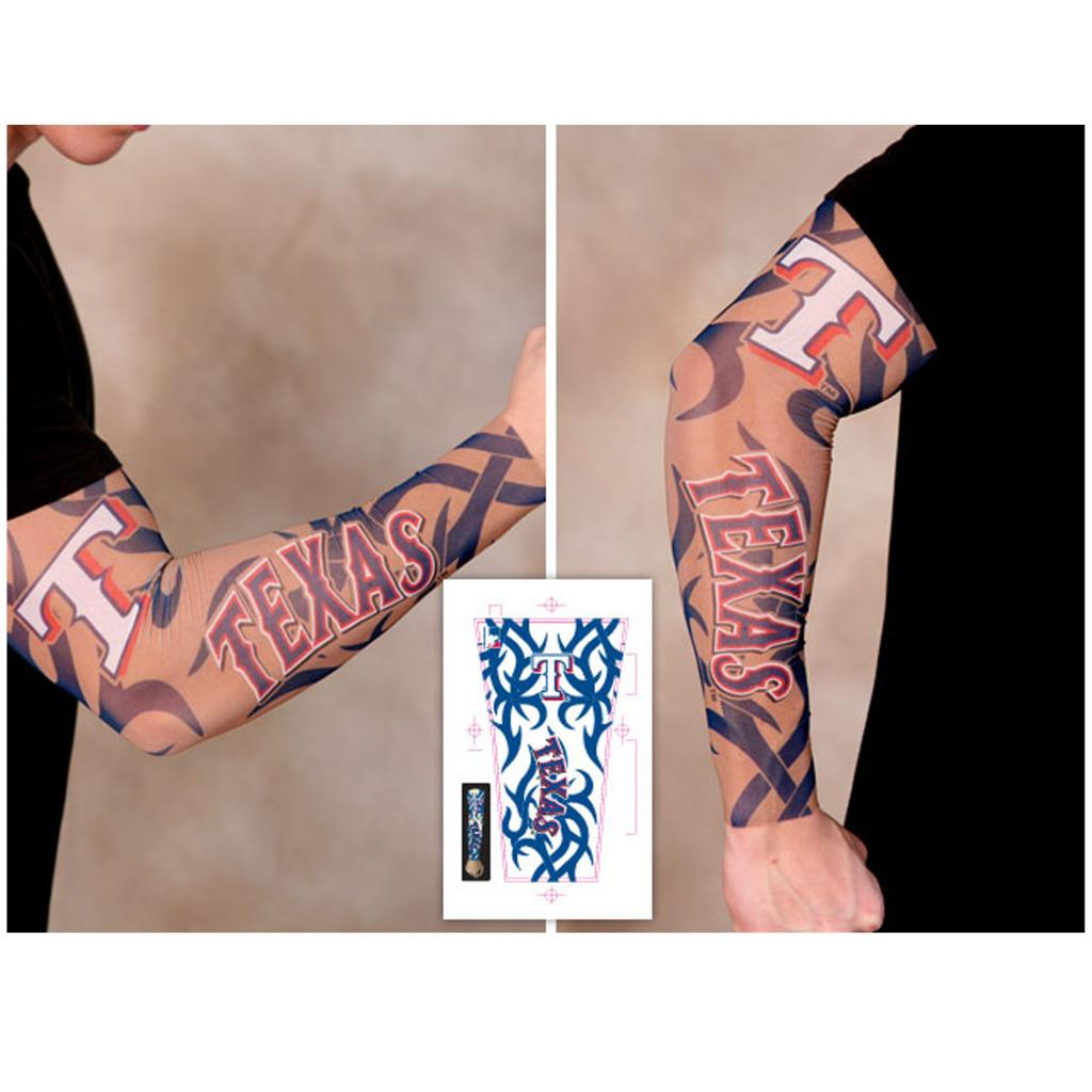 032baf707c331 Texas Rangers Arm Tattoo Sleeve Unisex Adult Size